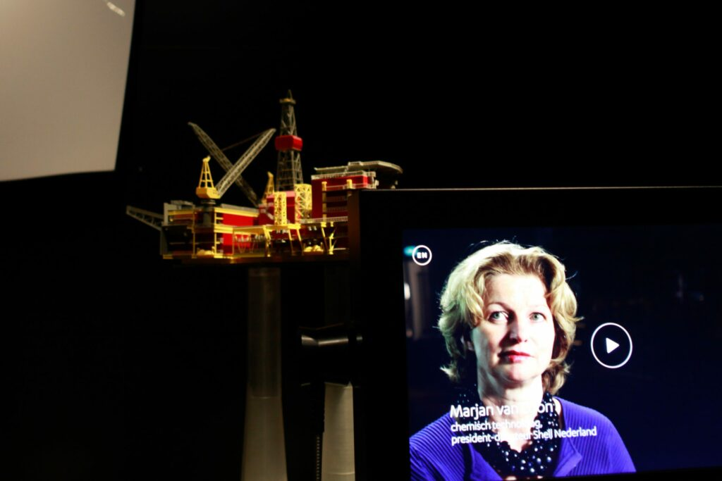 Video installation with Marjan van Loon (CEO Shell Nederland) at Boerhaave Museum.